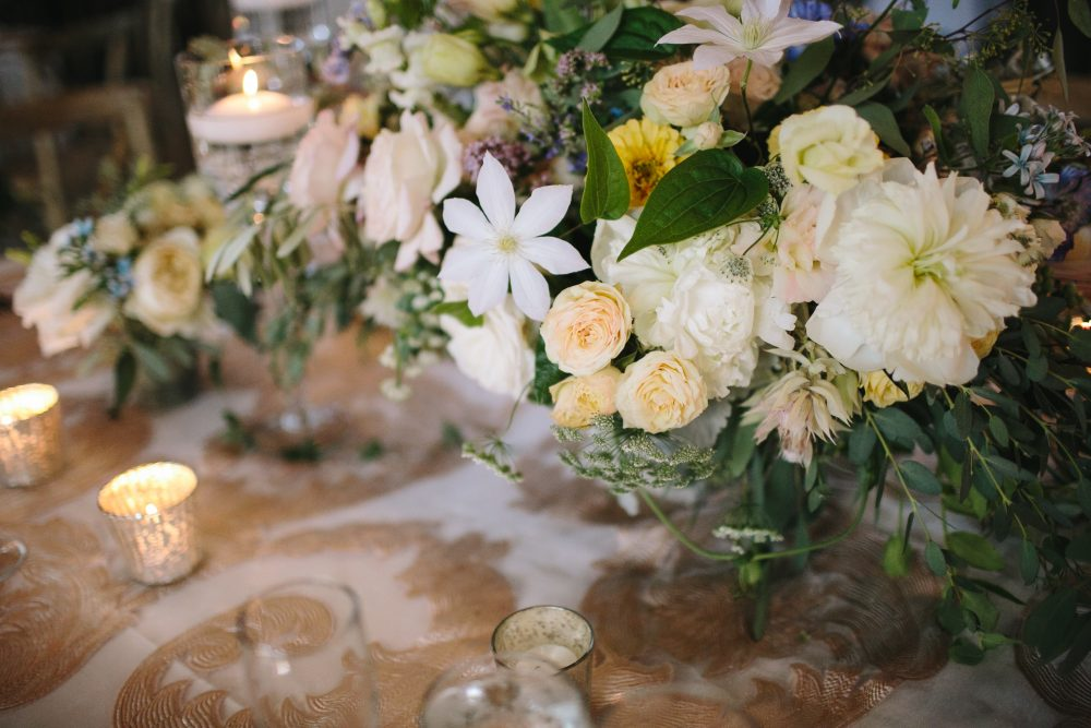 Floral Centerpieces | Bloom Floral Design | Northern Michigan Barn Wedding | Tableau Events