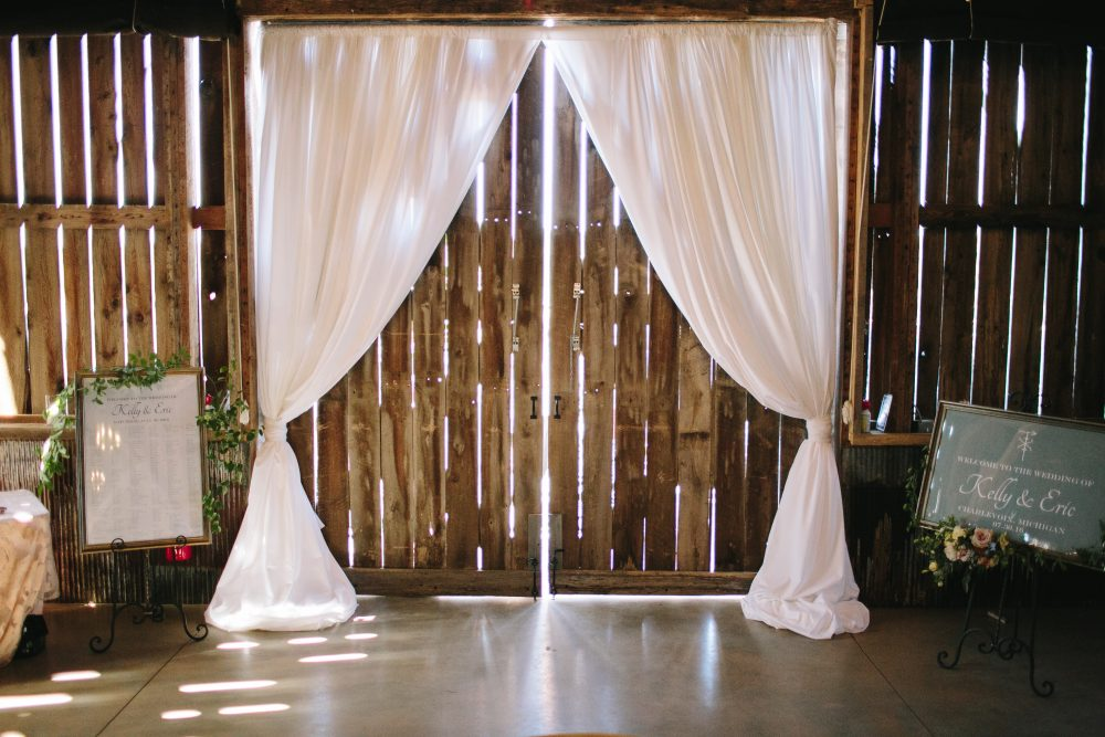 Reception Entry | Fabric Draping | Tableau Events