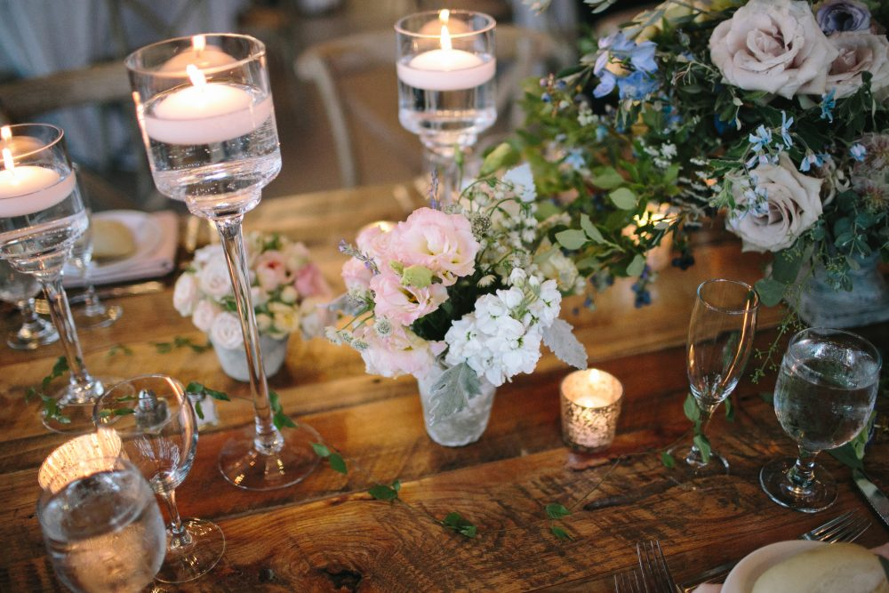 Floral Decor | Floating Candles | Charlevoix Michigan | Tableau Events