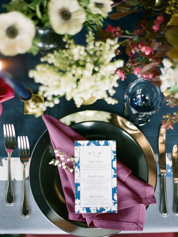 Wedding Place Setting | Custom Menu | Tableau Events