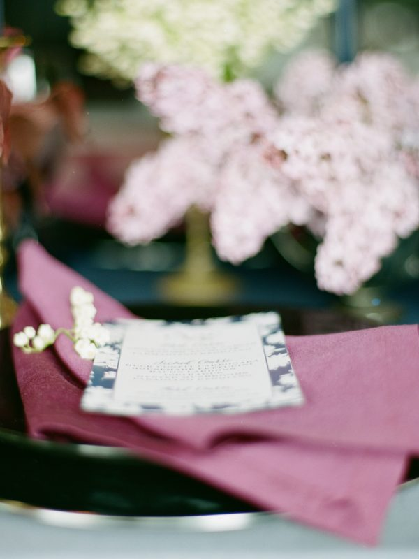 Custom Wedding Menu | Tableau Events