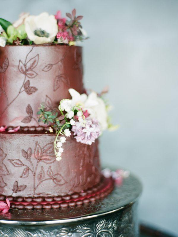 Wedding Cake | Floral Details | Tableau Events