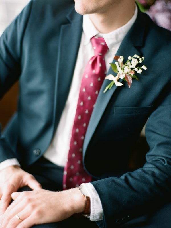 Floral Boutonniere | Walloon Lake Michigan Wedding | Tableau Events