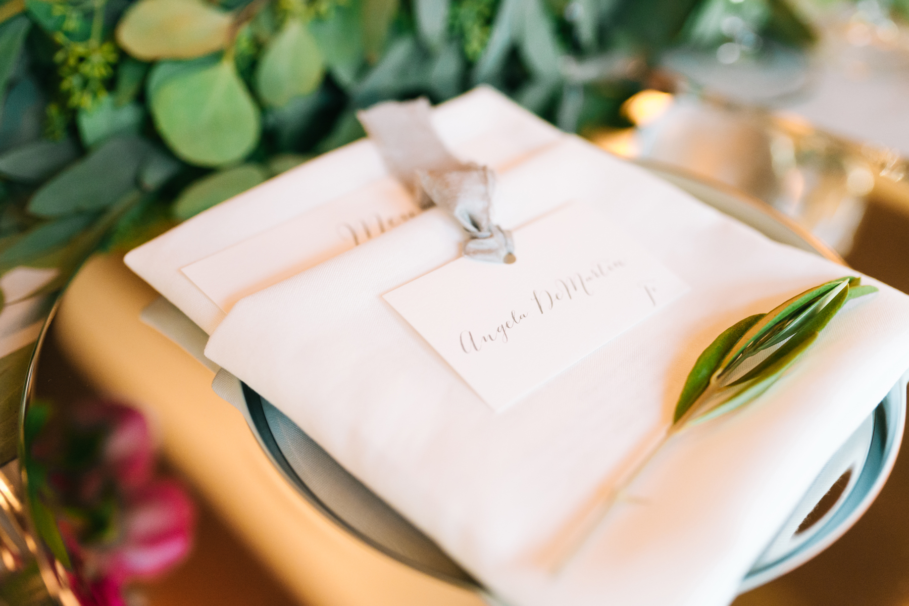 Custom Place Settings | Northern Michigan Wedding | Tableau Events