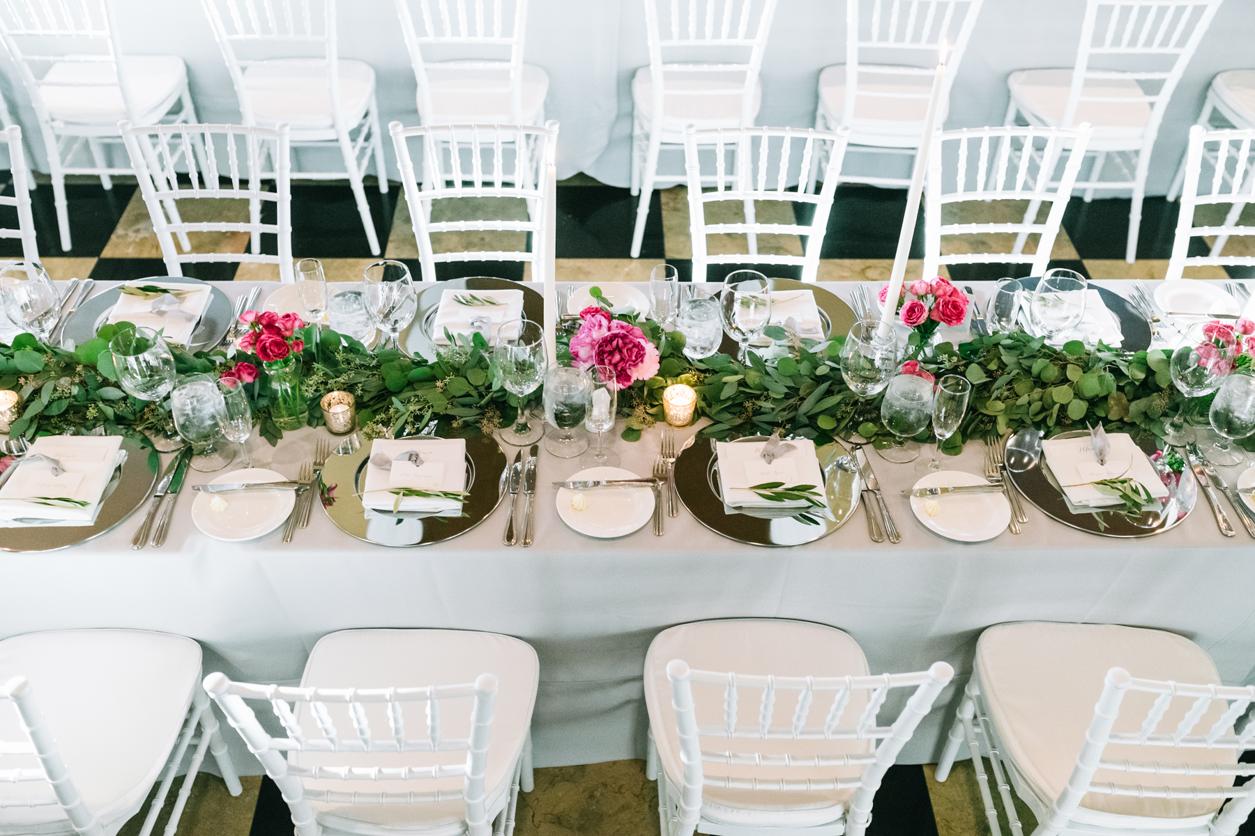 Table Decor | Pink and Green | Northern Michigan | Tableau Events | Bloom Floral Design
