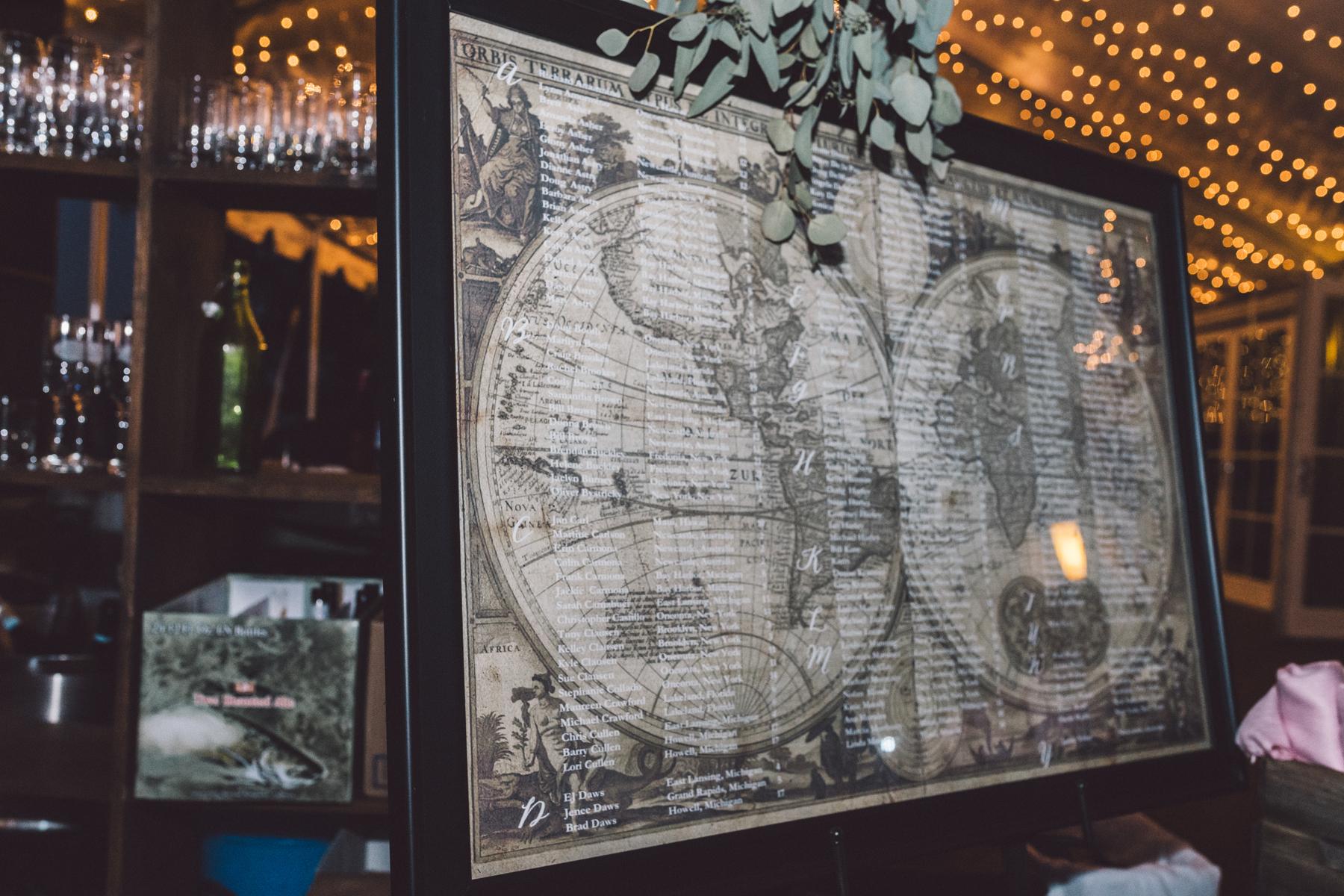Map Wedding Decor | Tableau Events