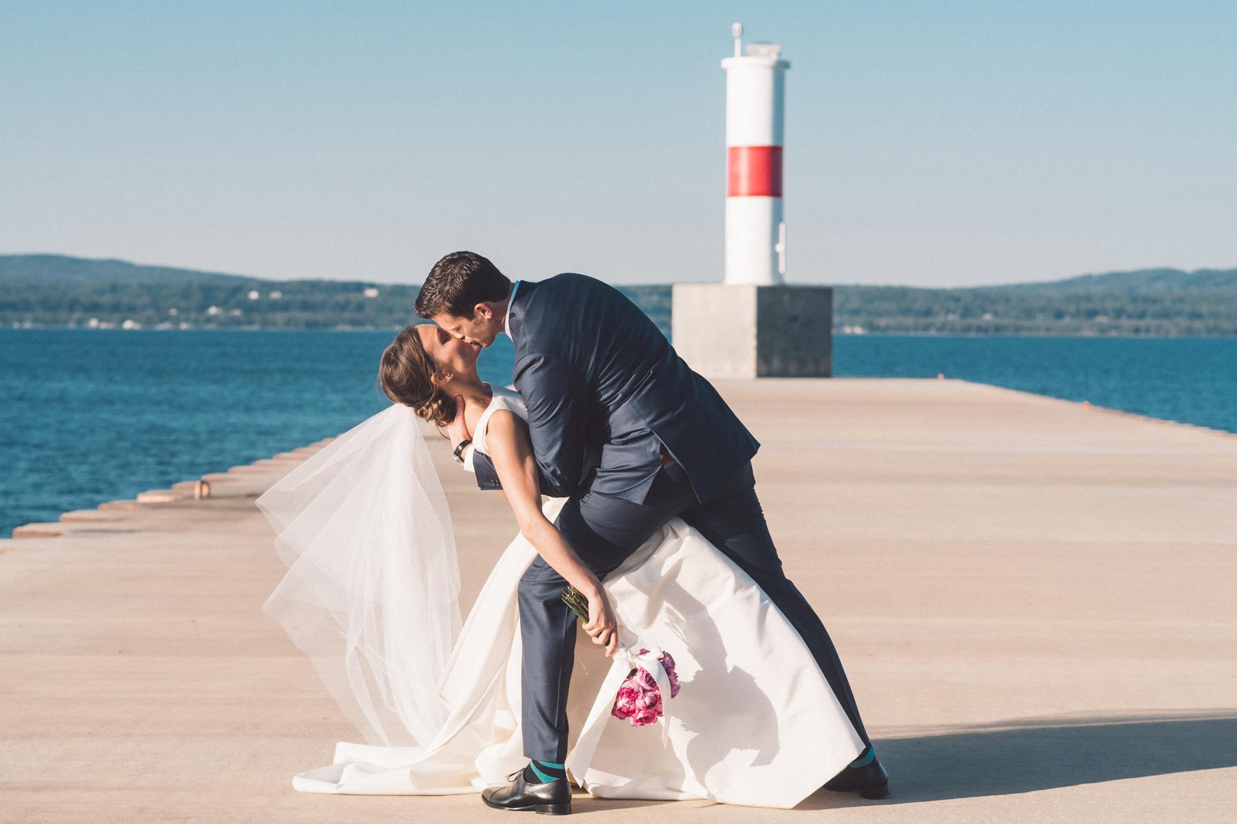 Petoskey Lighthouse Wedding | Lake Michigan | Tableau Events