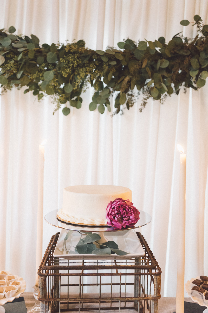 Wedding Cake Floral | Bloom Floral Design | Indoor Wedding | Fabric Draping | Tableau Events