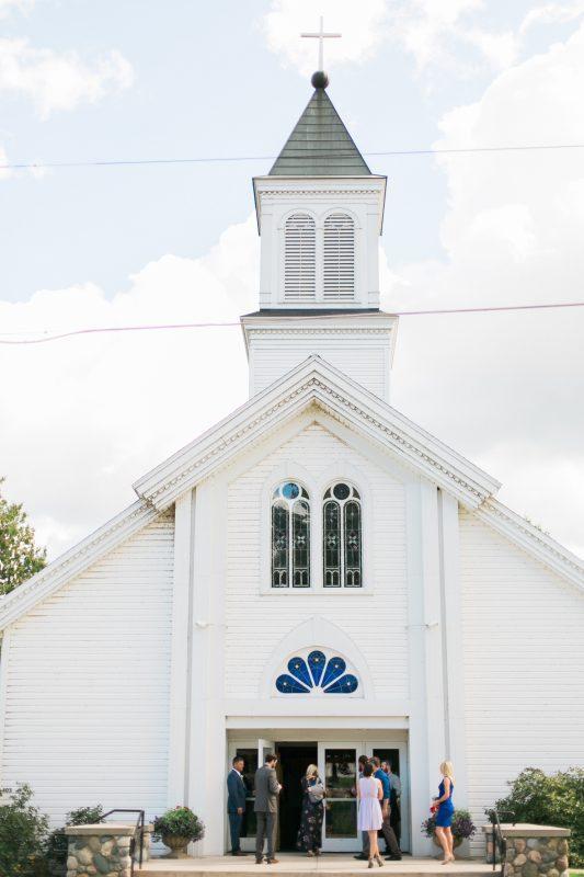 White Church Wedding | Northern Michigan | Summer