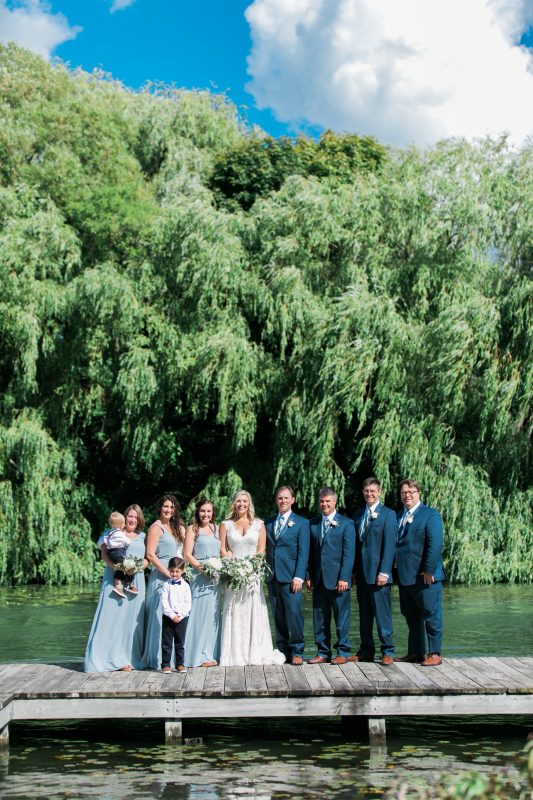 Willow Tree Setting | Blue Accents | Lake Wedding