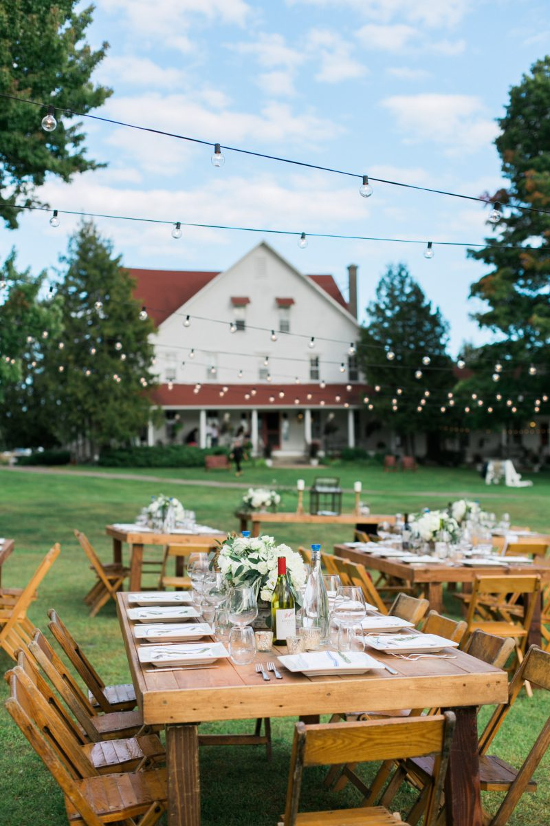 String Lights | Red Roof | Farm Tables | Tableau Events
