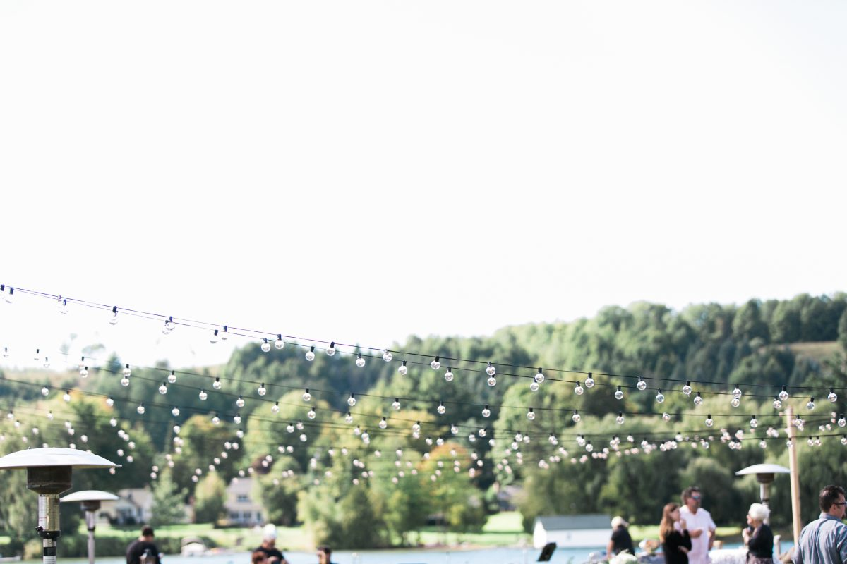 String Lights | Cafe Lights | Lake Wedding