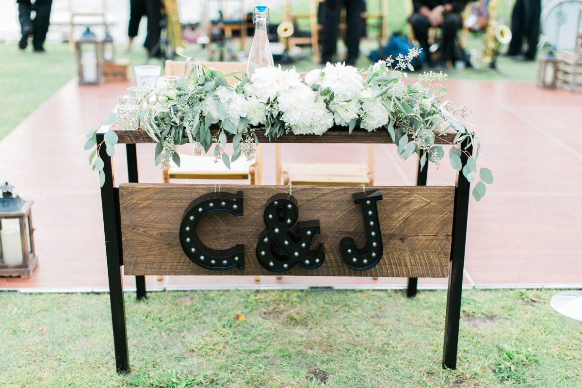 Custom Sweetheart Table | Northern Michigan Wedding | Summer