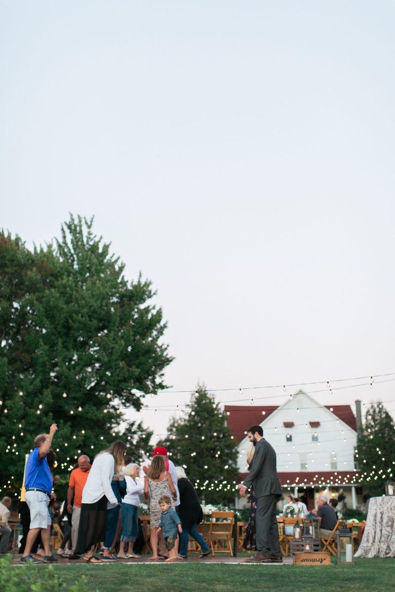 String Lights | Cafe Lights | No Tent Wedding
